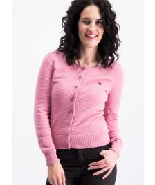 Blutsgeschwister Frauen Strickjacke Blutsgeschwister save the brave cardy mama rosa