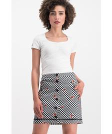 Blutsgeschwister Damen Rock Blutsgeschwister pleats please skirt black forest vichy