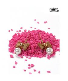 Mint Mint Ohrringe/ Perlen/ Pearl & bow earrings, gold white