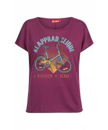 Derbe Frauen T-Shirt Derbe Klapprad Clique magenta purple