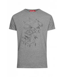 Derbe Männer T-Shirt Derbe Player grey melange