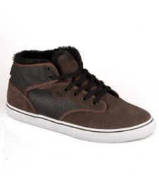 Globe Globe Schuhe Motley Mid Winter Shoes choco black fur