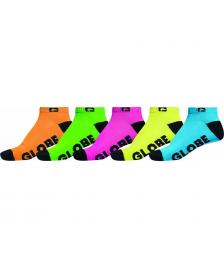 Globe Globe Sneaker Socken Fluro 5PK Ankle Sock assorted