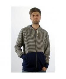 Makia Makia Kapuzenjacke Zip Up Hooded Sweatshirt blue raw cotton