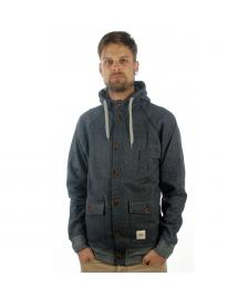 Wemoto Wemoto Jacke Hunter Sweat indigo melange