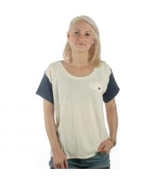 Wemoto Wemoto T-Shirt Kim whisper white dark navy