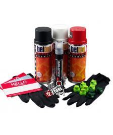 Klamottenstore Sprühdosen Set Make Your Mark On Society Colour Pack rot weiß schwarz Marker 640PP