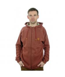Cleptomanicx Cleptomanicx Kapuzenjacke Men Hooded Zipper Woozer 2 hot chocolate