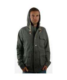 Dickies Dickies Kapuzenjacke Erie Zip Hood Jacket dark grey melange