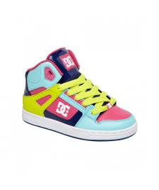 DC Kinder Schuhe Youth Rebound estate blue citrus