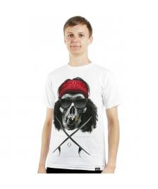 Rook Rook T-Shirt Crossed Skull V2 Tee white