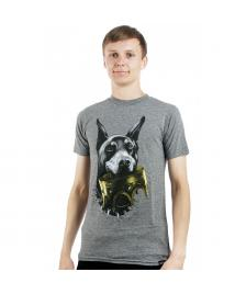 Rook Rook T-Shirt Doberman Crown heather grey