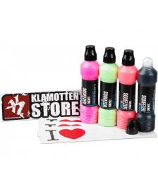 DC Shoes Grog Squeezer 10 FMP High Flow Squeezable Marker Neon Farben Set + Schwarz 10mm Round Tip