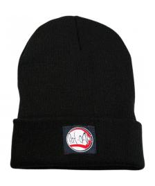 Klamottenstore Fat-Cap Mütze Logo Patch Beanie black