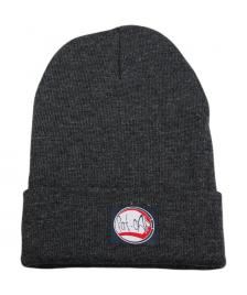 Klamottenstore Fat-Cap Mütze Logo Patch Beanie dark grey heather