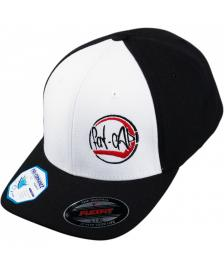 Klamottenstore Fat-Cap Classic Logo Flexfit Performance Cap black white