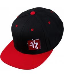Klamottenstore klamottenstore.de Classic Logo Mixed Up Snapback Cap black red