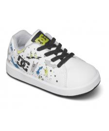 DC Shoes DC Kinder Schuhe Toddlers Phos white black print