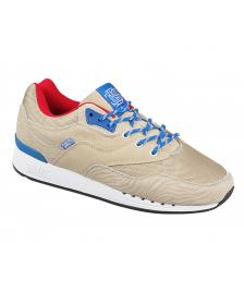 Djinns Djinns Schuhe Rough Run Tiger Leather Nylon khaki