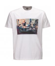 Dickies Dickies T-Shirt Hot Rod Biker Tee white