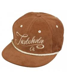 Turbokolor Turbokolor Cap 6-Panel Strapback Hat brown cord