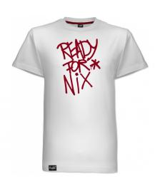 Aight Aight T-Shirt Ready For Nix Tag Logo Tee white maroon