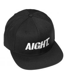 Aight Aight Cap Bold Logo 3D Embroid Snapback Hat black