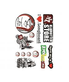 Klamottenstore Stickerbogen DIN A4 I Love My Longboard Graffiti BMX made by klamottenstore