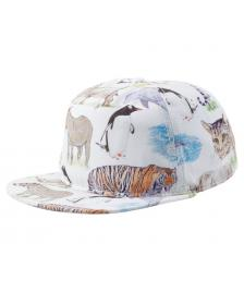 Neff Neff Cap Colored Pencil Safari Deconstructed Snapback Hat white