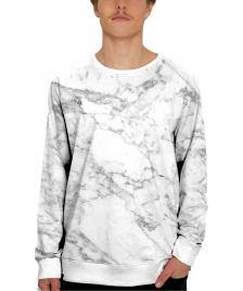 Dedicated Dedicated Pullover Fairtrade Organic Sweatshirt Allover Marble all over print