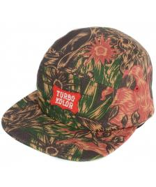 Turbokolor Turbokolor Five Panel Strapback Cap poison camo
