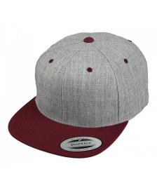 Flexfit Flexfit Cap Classic Snapback Hat 2-Tone heather grey maroon