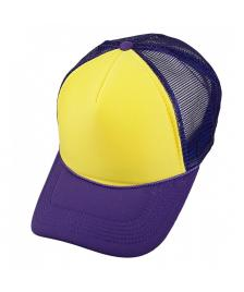 Masterdis Masterdis Baseball Trucker Cap purple yellow