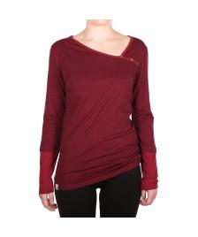 Iriedaily Frauen Pullover Iriedaily Asym Stripe Button LS bordeaux red