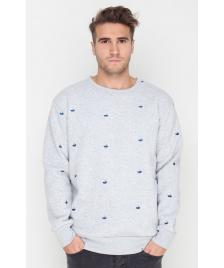 Shisha Shisha Pullover Sweater Sticken Unisex light ash