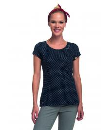 Ragwear Frauen T-Shirt Ragwear Mint Dots navy