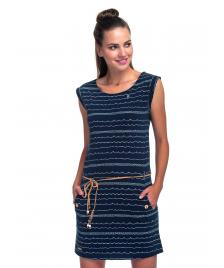 Ragwear Frauen Kleid Ragwear Tag Waves navy