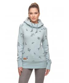 Ragwear Frauen Pullover Ragwear Yoda Flowers light blue
