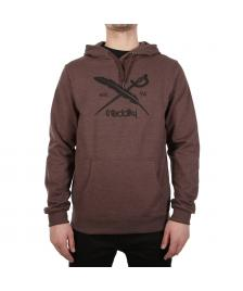 Iriedaily Männer Pullover Iriedaily Daily Flag Hooded brown melange