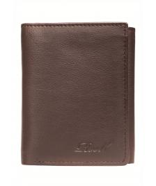 Reell Geldbeutel Reell Mini Trifold Leather Wallet brown