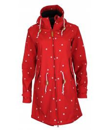 Derbe Frauen Jacke Derbe Island Friese Dots red navy