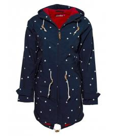 Derbe Frauen Jacke Derbe Island Friese Dots navy red