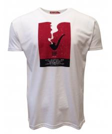 Derbe Männer T-Shirt Derbe Pipe white