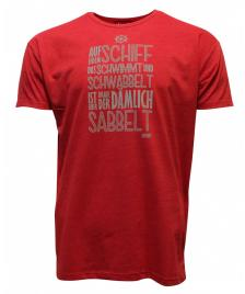 Derbe Männer T-Shirt Derbe Sabbelt red melange
