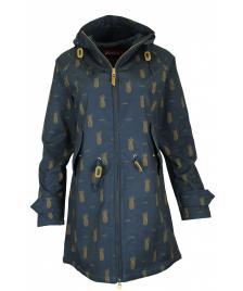 Derbe Frauen Jacke Derbe Island Friese Pineapple navy