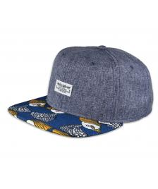 Djinns Djinns Cap 6-Panel Crazy Pattern Birds & Tissu Snapback Hat blue