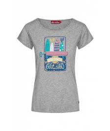 Derbe Frauen T-Shirt Derbe Sardines grey melange