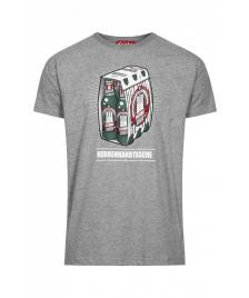 Derbe Männer T-Shirt Derbe Herrenhandtasche reloaded grey melange