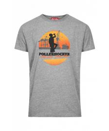 Derbe Männer T-Shirt Derbe Pollerhocken grey melange