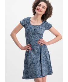Blutsgeschwister Damen Kleid Blutsgeschwister Swing along dress fluffy feather